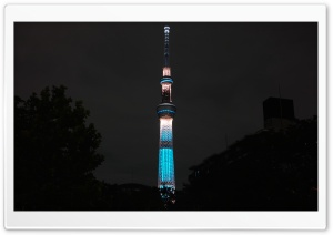 Tokyo Skytree Night View, Japan HD Wide Wallpaper for Widescreen
