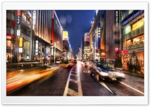 Tokyo Street At Night, HDR HD Wide Wallpaper for Widescreen