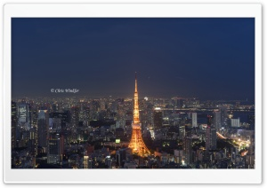 Tokyo Tower, Japan HD Wide Wallpaper for 4K UHD Widescreen desktop & smartphone