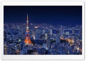 Tokyo Tower, Night, City