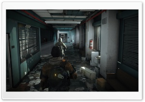 Tom Clancy's The Division Hospital Hall HD Wide Wallpaper for Widescreen