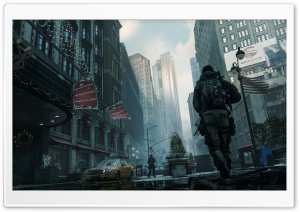 Tom Clancy's The Division Outside Macy's HD Wide Wallpaper for Widescreen