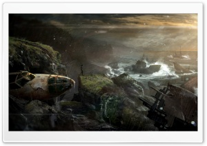 Tomb Raider 2012 - Shipwreck HD Wide Wallpaper for Widescreen
