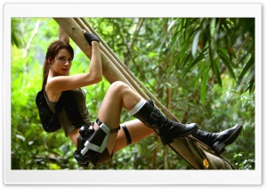 Tomb Raider 2013 Lara Croft - Jungle HD Wide Wallpaper for Widescreen