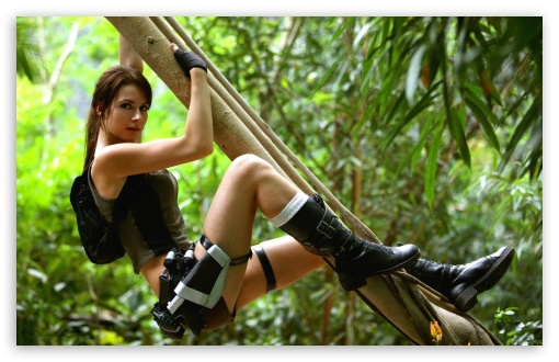 Tomb Raider 2013 Lara Croft - Jungle HD wallpaper for Wide 16:10 5:3 Widescreen WHXGA WQXGA WUXGA WXGA WGA ; HD 16:9 High Definition WQHD QWXGA 1080p 900p 720p QHD nHD ; Standard 3:2 Fullscreen DVGA HVGA HQVGA devices ( Apple PowerBook G4 iPhone 4 3G 3GS iPod Touch ) ; Mobile 5:3 3:2 16:9 - WGA DVGA HVGA HQVGA devices ( Apple PowerBook G4 iPhone 4 3G 3GS iPod Touch ) WQHD QWXGA 1080p 900p 720p QHD nHD ;