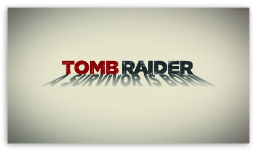 Tomb Raider 2013 White Poster HD wallpaper for HD 16:9 High Definition WQHD QWXGA 1080p 900p 720p QHD nHD ; Mobile 16:9 - WQHD QWXGA 1080p 900p 720p QHD nHD ;