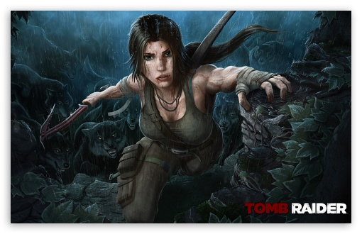 Tomb Raider 2013 Wolves HD wallpaper for Wide 16:10 5:3 Widescreen WHXGA WQXGA WUXGA WXGA WGA ; HD 16:9 High Definition WQHD QWXGA 1080p 900p 720p QHD nHD ; Standard 3:2 Fullscreen DVGA HVGA HQVGA devices ( Apple PowerBook G4 iPhone 4 3G 3GS iPod Touch ) ; Mobile 5:3 3:2 16:9 - WGA DVGA HVGA HQVGA devices ( Apple PowerBook G4 iPhone 4 3G 3GS iPod Touch ) WQHD QWXGA 1080p 900p 720p QHD nHD ;