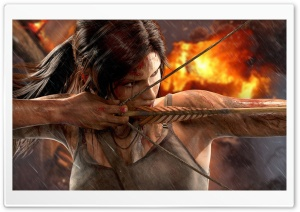 Tomb Raider - Lara Croft Bow HD Wide Wallpaper for Widescreen