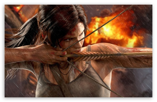 Tomb Raider - Lara Croft Bow HD wallpaper for Wide 16:10 5:3 Widescreen WHXGA WQXGA WUXGA WXGA WGA ; HD 16:9 High Definition WQHD QWXGA 1080p 900p 720p QHD nHD ; Standard 4:3 5:4 3:2 Fullscreen UXGA XGA SVGA QSXGA SXGA DVGA HVGA HQVGA devices ( Apple PowerBook G4 iPhone 4 3G 3GS iPod Touch ) ; iPad 1/2/Mini ; Mobile 4:3 5:3 3:2 16:9 5:4 - UXGA XGA SVGA WGA DVGA HVGA HQVGA devices ( Apple PowerBook G4 iPhone 4 3G 3GS iPod Touch ) WQHD QWXGA 1080p 900p 720p QHD nHD QSXGA SXGA ;