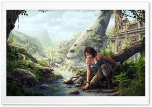 Tomb Raider Fan Art HD Wide Wallpaper for Widescreen