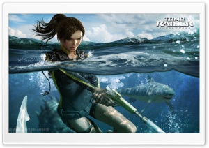 Tomb Raider Underworld HD Wide Wallpaper for Widescreen