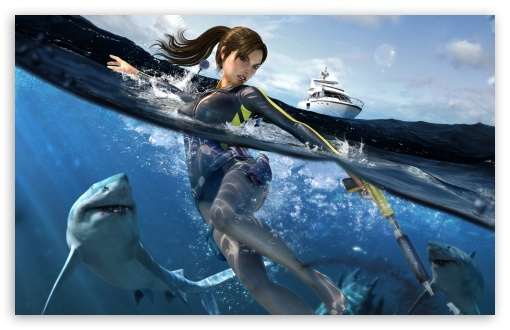 Tomb Raider Underworld Lara Croft Swimming With Sharks HD wallpaper for Wide 16:10 5:3 Widescreen WHXGA WQXGA WUXGA WXGA WGA ; HD 16:9 High Definition WQHD QWXGA 1080p 900p 720p QHD nHD ; Standard 4:3 5:4 3:2 Fullscreen UXGA XGA SVGA QSXGA SXGA DVGA HVGA HQVGA devices ( Apple PowerBook G4 iPhone 4 3G 3GS iPod Touch ) ; Tablet 1:1 ; iPad 1/2/Mini ; Mobile 4:3 5:3 3:2 16:9 5:4 - UXGA XGA SVGA WGA DVGA HVGA HQVGA devices ( Apple PowerBook G4 iPhone 4 3G 3GS iPod Touch ) WQHD QWXGA 1080p 900p 720p QHD nHD QSXGA SXGA ; Dual 16:10 5:3 16:9 4:3 5:4 WHXGA WQXGA WUXGA WXGA WGA WQHD QWXGA 1080p 900p 720p QHD nHD UXGA XGA SVGA QSXGA SXGA ;