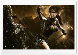 Tomb Raider Underworld Storm HD Wide Wallpaper for Widescreen