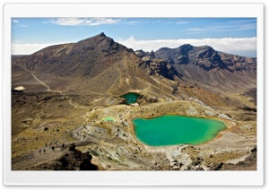 Tongariro Alpine Crossing Emerald Lakes HD Wide Wallpaper for Widescreen