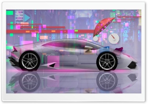 Tony Kokhan Design Lamborghini Huracan Super Crystal Home Umbrella Sofa Art Car 2018 HD Wide Wallpaper for 4K UHD Widescreen desktop & smartphone
