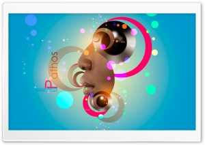 Tony Kokhan Design Pathos Abstract Man Eyes Nose Lips Neural Network Circle Art Style 2018 Ultra HD Wallpaper for 4K UHD Widescreen desktop, tablet & smartphone