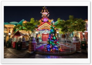 Toontown Christmas at City Hall HD Wide Wallpaper for Widescreen