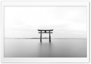 Torii Black and White HD Wide Wallpaper for Widescreen