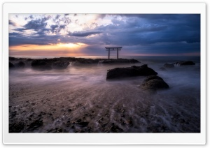 Torii Sunrise HD Wide Wallpaper for Widescreen