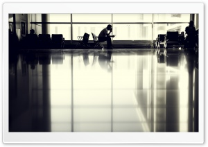 Toronto Airport Terminal Waiting Area HD Wide Wallpaper for Widescreen