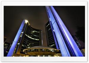 Toronto City Hall at Night Ultra HD Wallpaper for 4K UHD Widescreen desktop, tablet & smartphone
