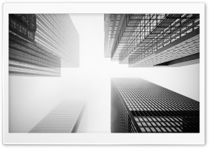Toronto Skyscrapers Black and White HD Wide Wallpaper for Widescreen