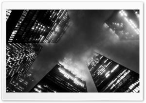 Toronto Skyscrapers in Fog HD Wide Wallpaper for 4K UHD Widescreen desktop & smartphone