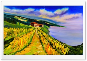 Toskana Olgemalde, Tuscany oil painting Ultra HD Wallpaper for 4K UHD Widescreen desktop, tablet & smartphone