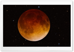 Total Lunar Eclipse HD Wide Wallpaper for 4K UHD Widescreen desktop & smartphone