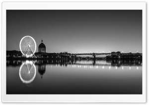Toulouse Black and White HD Wide Wallpaper for Widescreen