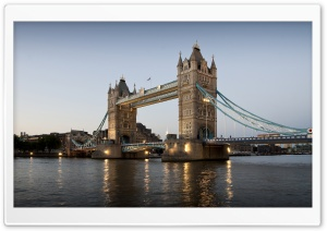 Tower Bridge, Evening HD Wide Wallpaper for Widescreen