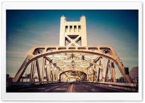 Tower Bridge, Sacramento, California HD Wide Wallpaper for Widescreen