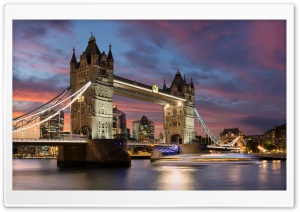 Tower Bridge sunset HD Wide Wallpaper for 4K UHD Widescreen desktop & smartphone