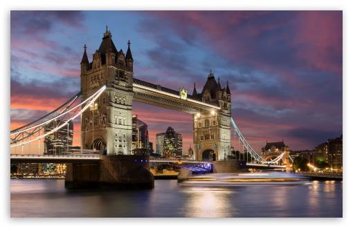 Tower Bridge Sunset Ultra Hd Desktop Background Wallpaper