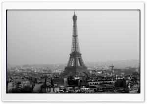 Tower Eiffel Black And White HD Wide Wallpaper for Widescreen