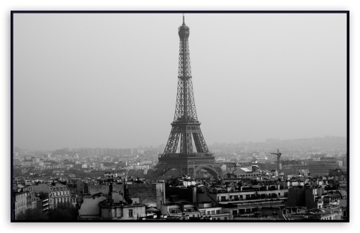 Tower Eiffel Black And White HD wallpaper for Wide 16:10 5:3 Widescreen WHXGA WQXGA WUXGA WXGA WGA ; HD 16:9 High Definition WQHD QWXGA 1080p 900p 720p QHD nHD ; Mobile WVGA - WVGA WQVGA Smartphone ( HTC Samsung Sony Ericsson LG Vertu MIO ) ;