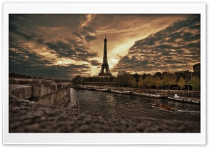 Tower Eiffel HDR HD Wide Wallpaper for Widescreen