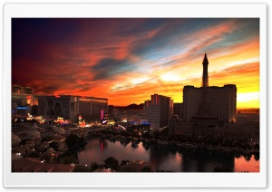 Tower Eiffel, Las Vegas HD Wide Wallpaper for Widescreen