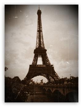 Eiffel tower wallpaper vintage