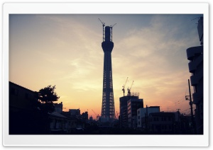 Tower Under Construction HD Wide Wallpaper for Widescreen