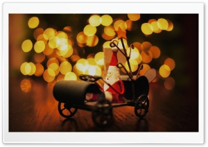 Toy Santa HD Wide Wallpaper for Widescreen