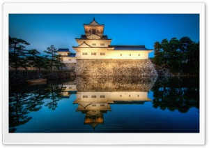 Toyama Castle Reflection HD Wide Wallpaper for Widescreen