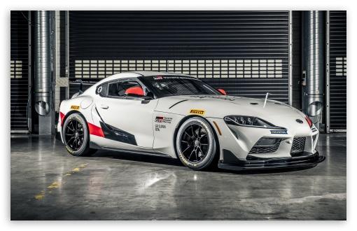 Download Toyota GR Supra GT4 car 2019 HD Wallpaper