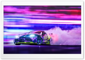 Toyota Supra Car Racing Drift Night Ultra HD Wallpaper for 4K UHD Widescreen desktop, tablet & smartphone