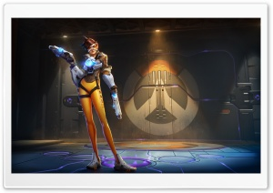 Tracer Overwatch HD Wide Wallpaper for Widescreen