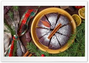 Traditional Christmas Cake HD Wide Wallpaper for 4K UHD Widescreen desktop & smartphone