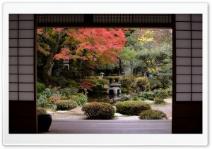 Traditional Japanese Garden HD Wide Wallpaper for Widescreen