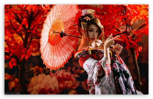 Traditional Japanese Woman Smoking UltraHD Wallpaper for Wide 16:10 5:3 Widescreen WHXGA WQXGA WUXGA WXGA WGA ; Standard 3:2 Fullscreen DVGA HVGA HQVGA ( Apple PowerBook G4 iPhone 4 3G 3GS iPod Touch ) ; Mobile 5:3 3:2 - WGA DVGA HVGA HQVGA ( Apple PowerBook G4 iPhone 4 3G 3GS iPod Touch ) ;