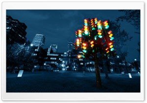 Traffic Light Sculpture HD Wide Wallpaper for Widescreen