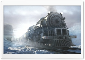 Train 3D HD Wide Wallpaper for Widescreen